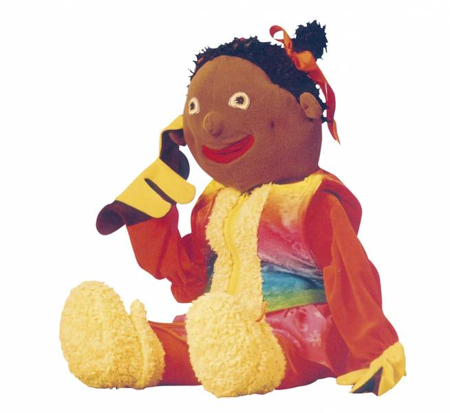Ruby, tale og språk hånddukke 70 cm